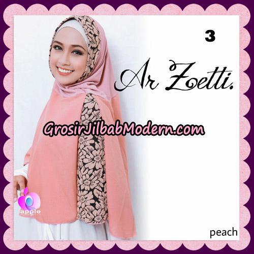 Jilbab Syari Terbaru Khimar Ar Zetti Original By Apple Hijab Brand No 3 Peach