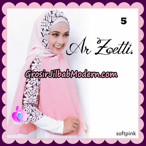 Jilbab Syari Terbaru Khimar Ar Zetti Original By Apple Hijab Brand No 5 SoftPink