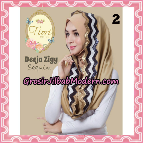 Jilbab Instant Deeja Zigy Sequin Original by Fiori Design No 2
