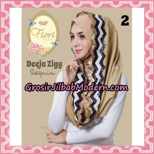 Jilbab Instant Deeja Zigy Sequin Original by Fiori Design No 2