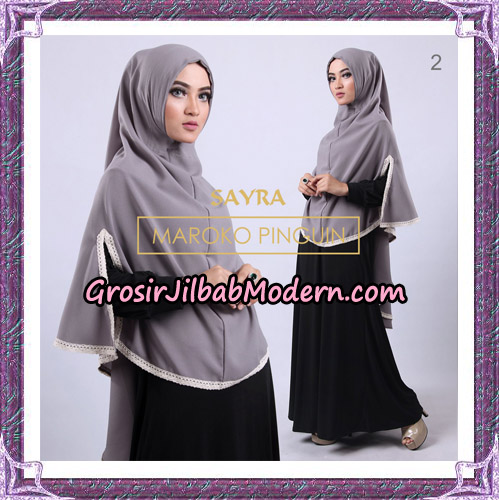 Jilbab Instant Maroko Pinguin Original By Sayra Hijab Brand No 2