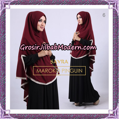 Jilbab Instant Maroko Pinguin Original By Sayra Hijab Brand No 6