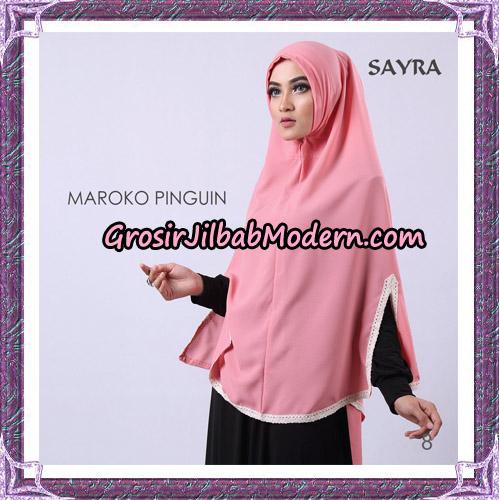 Jilbab Instant Maroko Pinguin Original By Sayra Hijab Brand No 8