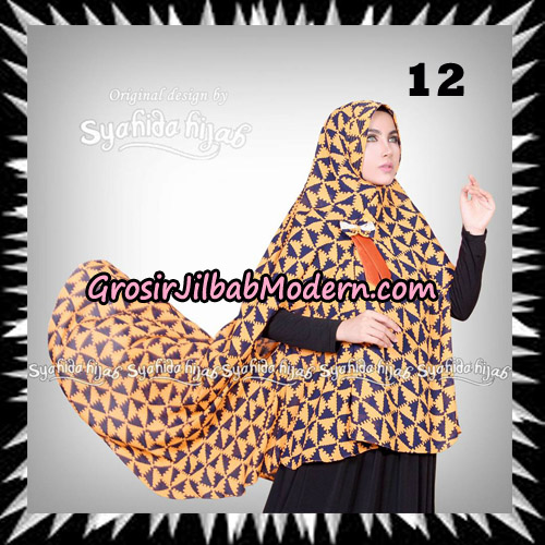 Jilbab Khimar Cardy Sabiha Original By Syahida Brand No 12