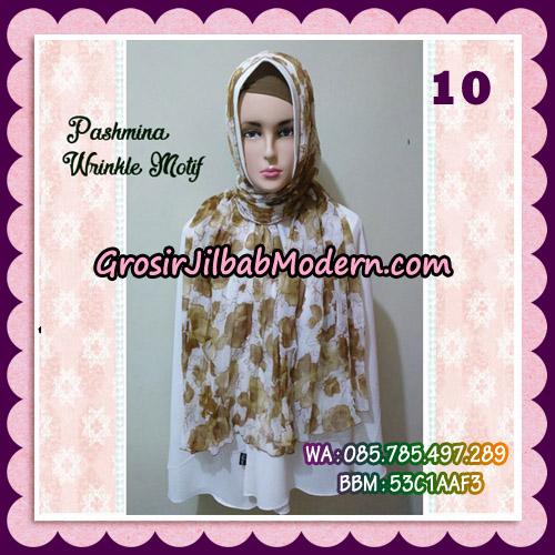 Jilbab Pashmina Bahan Sifone Wrinkle Motif Cantik No 10