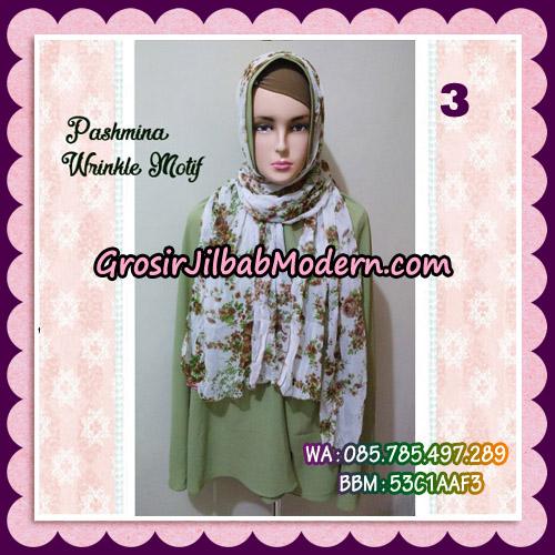 Jilbab Pashmina Bahan Sifone Wrinkle Motif Cantik No 3