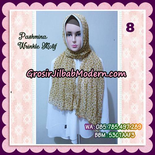Jilbab Pashmina Bahan Sifone Wrinkle Motif Cantik No 8