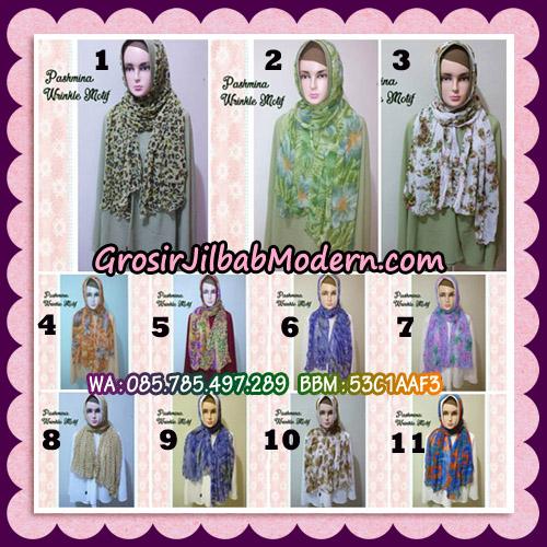 Jilbab Pashmina Bahan Sifone Wrinkle Motif Cantik