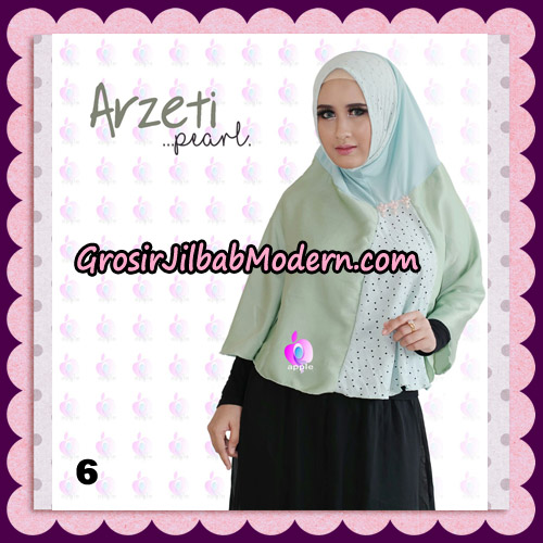 Jilbab Instant Arzeti Pearl Original By Apple Hijab Brand No 6