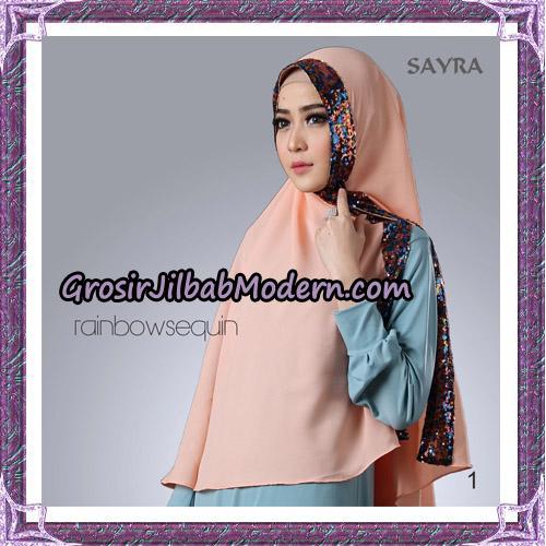 Jilbab Khimar Instant Rainbow Sequin Original By Sayra Hijab Brand No 1