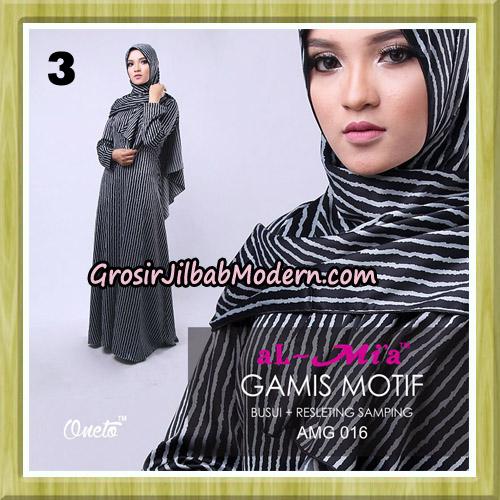 Gamis Motif Stelan AMG 016 Original By AlMia Brand No 3