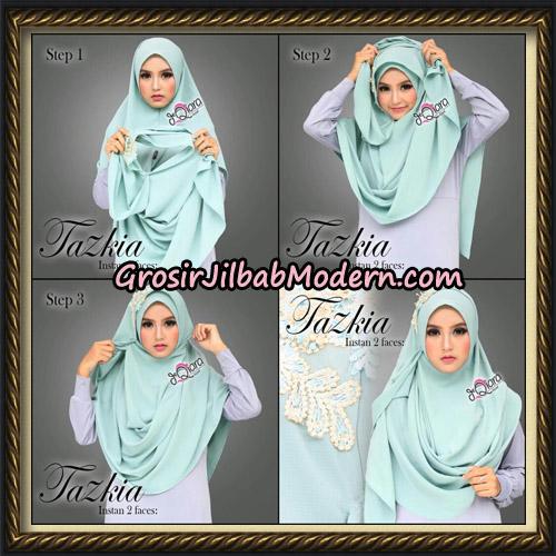 Jilbab Cantik Instan 2 Face Tazkia Original By dQiara Hijab Brand - Cara Pemakaian