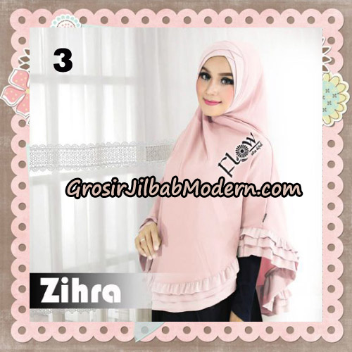 Jilbab Cantik Khimar Silang Zihra Original By Flow Idea No 3