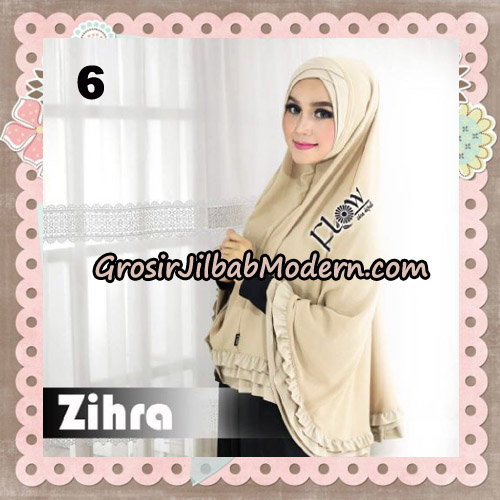 Jilbab Cantik Khimar Silang Zihra Original By Flow Idea No 6