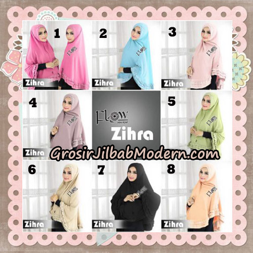 Jilbab Cantik Khimar Silang Zihra Original By Flow Idea