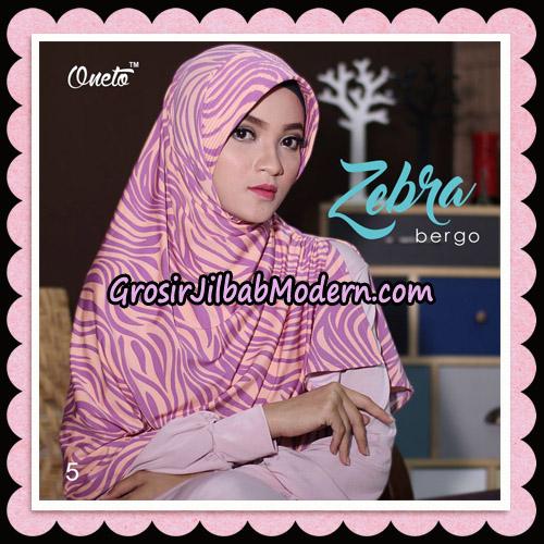 Jilbab Harian Zebra Bergo Original By Oneto Hijab Brand No 5