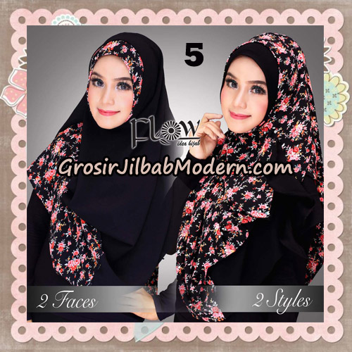 Jilbab Instant 2 Face & 2 Styles Flowly Original By Flow Idea No 5