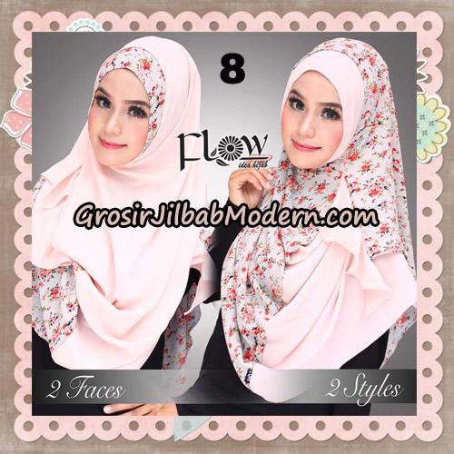Jilbab Instant 2 Face & 2 Styles Flowly Original By Flow Idea No 8