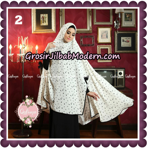 Jilbab Syari Modern Khimar Mymo - Mysha Motif Original by Qalisya Hijab Brand No 2