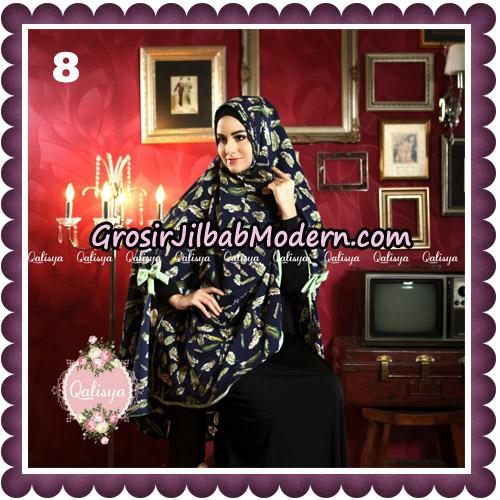 Jilbab Syari Modern Khimar Mymo - Mysha Motif Original by Qalisya Hijab Brand No 8