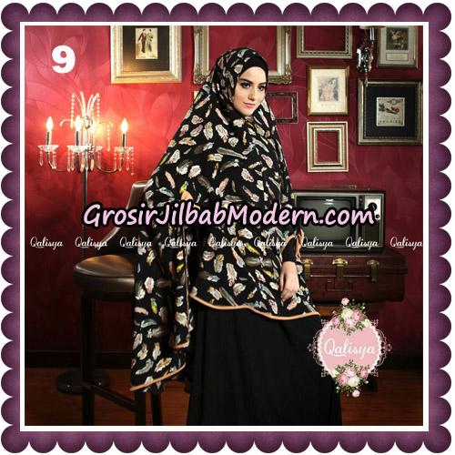 Jilbab Syari Modern Khimar Mymo - Mysha Motif Original by Qalisya Hijab Brand No 9