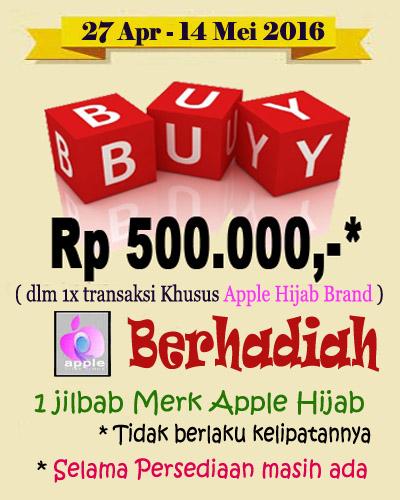 Promo Apple Hijab GrosirJilbabModern