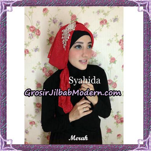 Turban Pesta Instant Sufya Original By Syahida Hijab Brand - Merah