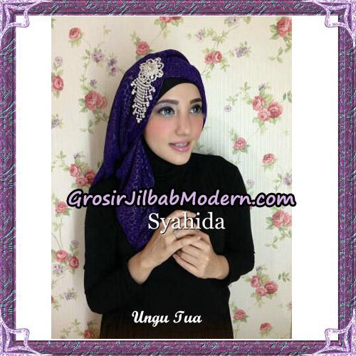 Turban Pesta Instant Sufya Original By Syahida Hijab Brand - Ungu Tua