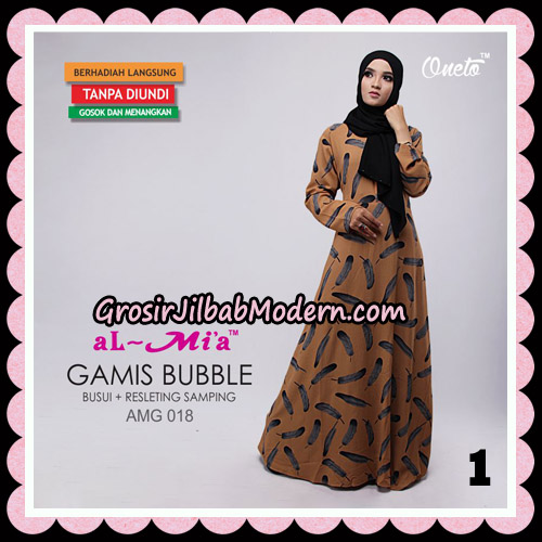 Gamis Bubble Motif Bulu AMG 018 Original By AlMia Brand No 1