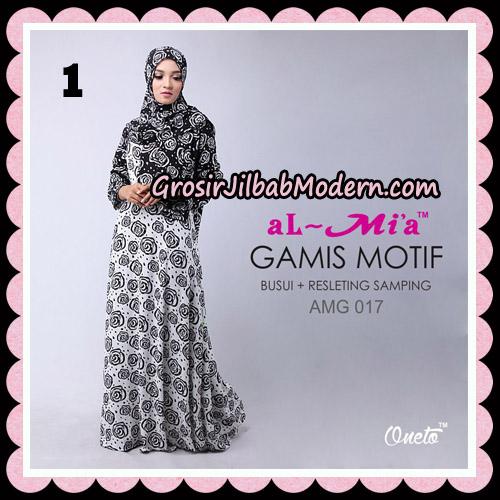 Gamis Motif Hitam Putih Stelan AMG 017 Original By AlMia Brand No 1