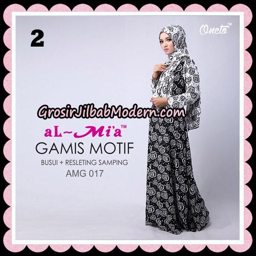Gamis Motif Hitam Putih Stelan AMG 017 Original By AlMia Brand No 2