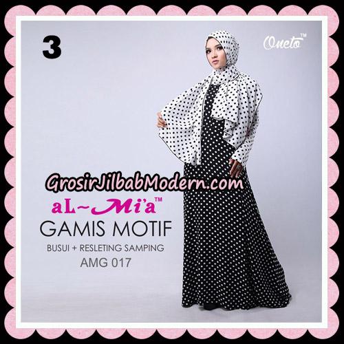 Gamis Motif Hitam Putih Stelan AMG 017 Original By AlMia Brand No 3