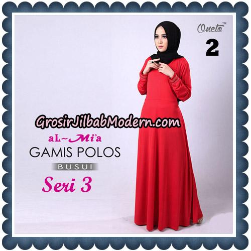Gamis Polos Busui Seri 3 Original By AlMia Brand No 2