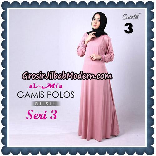 Gamis Polos Busui Seri 3 Original By AlMia Brand No 3