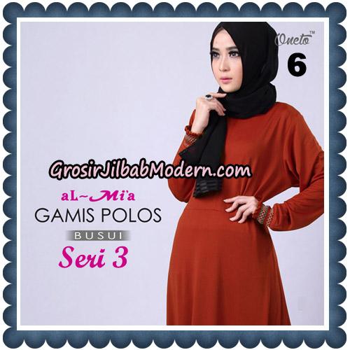 Gamis Polos Busui Seri 3 Original By AlMia Brand No 6