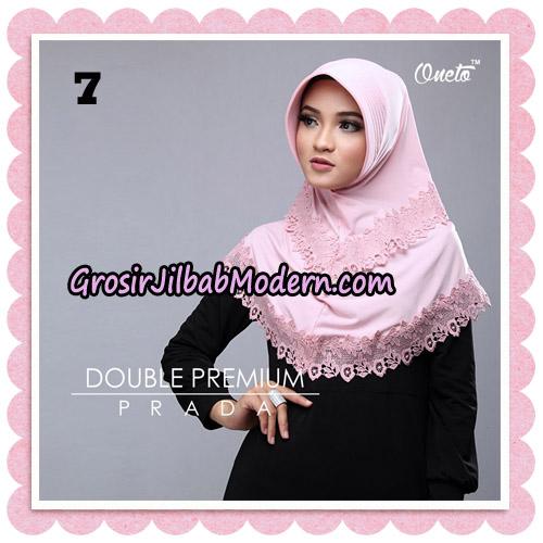 Jilbab Cantik Double Premium Prada Bergo Original By Oneto Hijab Brand NO 7