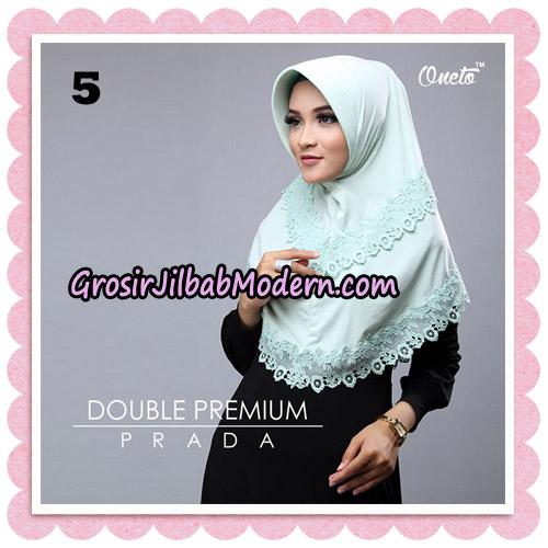 Jilbab Cantik Double Premium Prada Bergo Original By Oneto Hijab Brand No 5