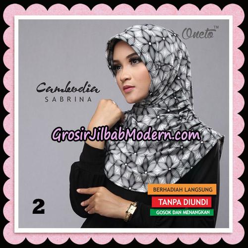 Jilbab Harian Sabrina Cambodia Original By Oneto Hijab Brand NO 2
