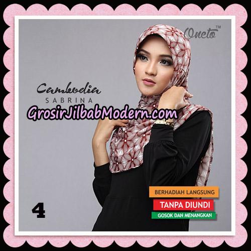 Jilbab Harian Sabrina Cambodia Original By Oneto Hijab Brand No 4