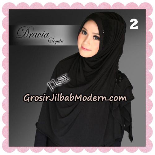Jilbab Instant Cantik Syria Dravia Sequin Original By Flow Idea NO 2
