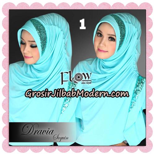 Jilbab Instant Cantik Syria Dravia Sequin Original By Flow Idea No 1