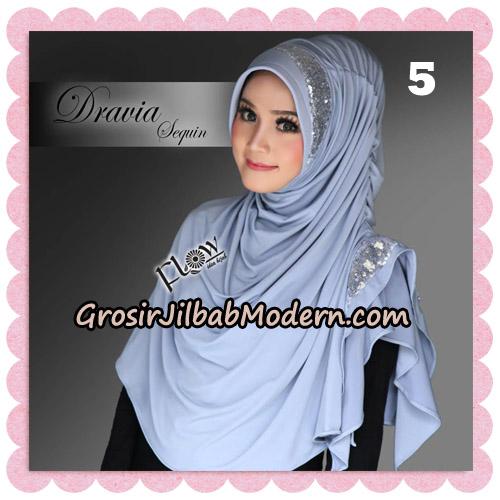 Jilbab Instant Cantik Syria Dravia Sequin Original By Flow Idea No 5