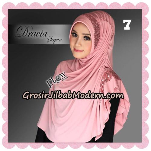 Jilbab Instant Cantik Syria Dravia Sequin Original By Flow Idea No 7