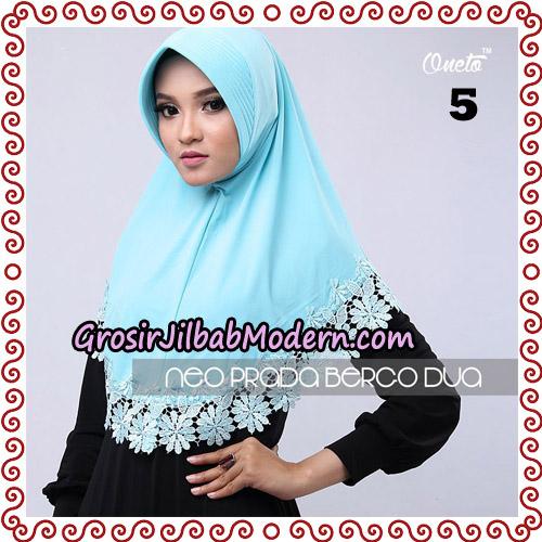 Jilbab Instant NeoPrada Bergo Dua Original By Oneto Hijab Brand No 5