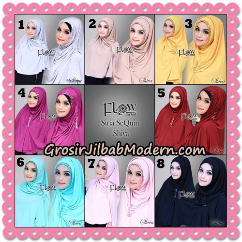 Jilbab Instant Syria SeQuin Shiva Original By Flow Idea