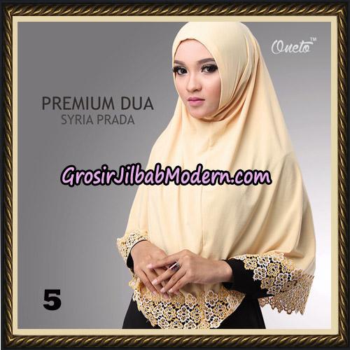 Jilbab Syria Prada Premium Dua Original By Oneto Hijab Brand NO 5