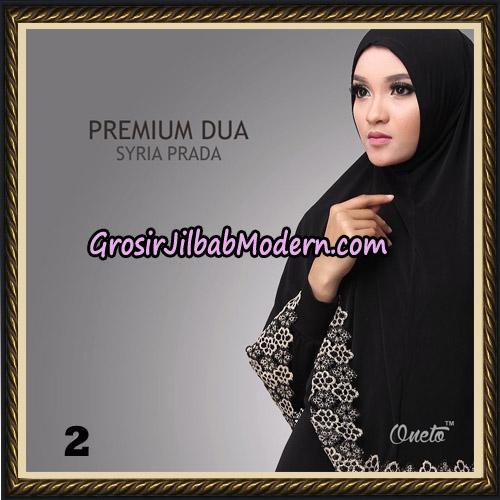 Jilbab Syria Prada Premium Dua Original By Oneto Hijab Brand No 2