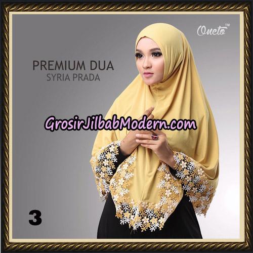 Jilbab Syria Prada Premium Dua Original By Oneto Hijab Brand No 3