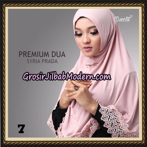Jilbab Syria Prada Premium Dua Original By Oneto Hijab Brand No 7