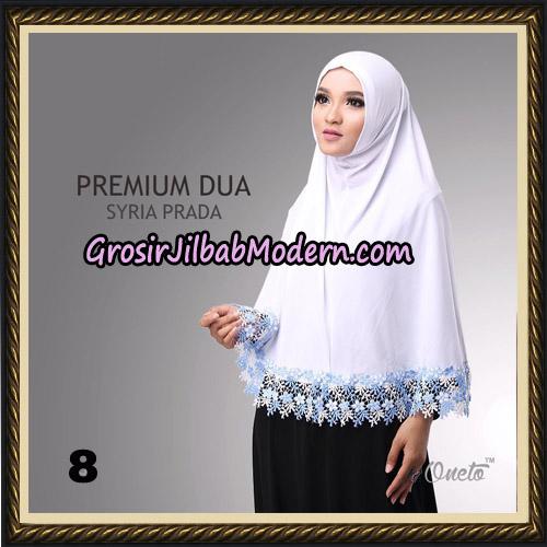 Jilbab Syria Prada Premium Dua Original By Oneto Hijab Brand No 8